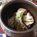 韓国料理 ジンジュ - 壺の下には揉みダレが・・