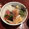 竹はる - 料理写真:大名ちらし。生海老が2本。海老を除けば生魚は少なめの印象。