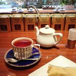 リンクス紅茶と洋酒の店 - ランチの紅茶、デザート
