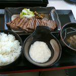 MMCオーガニックカフェ - 【喜助の牛タン焼き定食…1,580円】2012/4