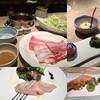 武蔵 - 料理写真:Lady's set 白金豚ロース&イベリコ豚&もち豚しゃぶしゃぶ付!!