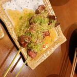 博多串焼と刺身 ココロザシ - レバテキ!激ウマだった、柔らかいから串から外して食べるよぉ