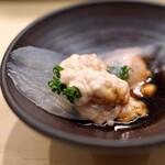 日本橋蛎殻町 すぎた - 熊本県産の かわはぎ 肝醤油で
