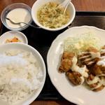 個室Dining 新荘園 - 鶏の唐揚げわさびマヨネーズ850円