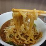 横川屋 玉三郎 - 麺のアップ