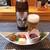 かめ吉 - 料理写真:スーパードライとお通し