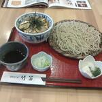 竹笛 - 料理写真:親子丼+ざる