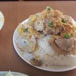 リバーサイド - 肉丼平らげ