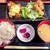 水炊き・焼鳥 とりいちず酒場 - 唐揚げと南蛮の合い盛り定食 590円(大盛=同一価格)