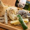 天麩羅 すえ廣 - 料理写真:定番野菜と魚の天麩羅