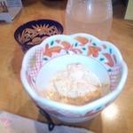 12535048 - 長いもと筍の明太マヨと鮭合わせ