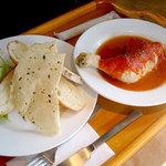 Cafe good life - 「若鶏のトマト煮込み(パン・サラダ・食後のドリンク付き)」1300円
