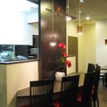レストハウス青柳 - 4月1日にリニューアルして変わった入って正面のカウンターテーブル!