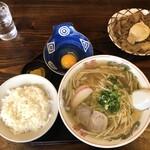 たまや食堂 - ラーメンライス+惣菜
