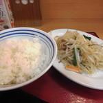 北浜食堂 - 豚もやしいため【200円】激安♪ご飯小【120円】