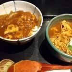 125388646 - ミニカレー丼、ミニカレー南蛮そばセット 1,045円 ♪