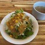 ちびたんく - 料理写真:サラダとスープ