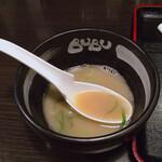 ら~めんBUBU - スープ割り