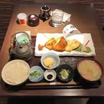 高級ブランド干物 『銀座伴助』 - 白身魚彩り三種定食(税込み2200円)