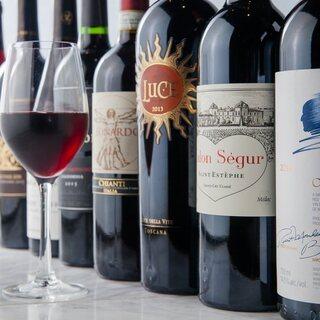 肉専用黒ワイン「カーニヴォ」を始め、25種の各種ワインあり!