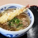 125399037 - スタミナうどん(肉うどん+えび天)