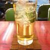 Yashiroshiyokudou - ドリンク写真:緑茶ハイ370円