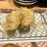 博多天ぷら やまみ - 後半の牡蠣2個