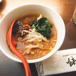 陳建一の担々麺 - ミニ担々麺 激辛パウダーイン