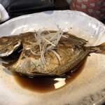 山海 - 2020/02/13 山海おまかせ定食 1,500円 エビチリ 豚バラ サラダ 煮魚 あら味噌汁 ご飯