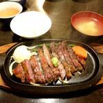牛庵 - ハラミステーキ1100円
