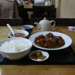 香蘭 - 料理写真:若どりと春雨のサンショ煮定食