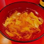 あけぼのラーメン - チャーハンにつくスープは溶き卵系