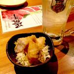 ふわり - 白身魚の天ぷらの付き出し