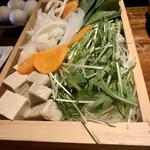 金山精肉酒場 せきや - 野菜たち
