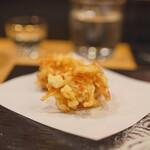 天ぷら割烹 ろく - あこや貝桜エビ