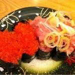 寿司居酒屋 日本海 - とびっこ、ネギトロ軍艦