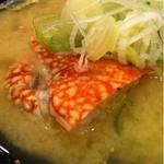 寿司居酒屋 日本海 - 渡りカニのみそ汁(260円