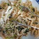 パステル亭 - 水菜と鶏ささみごま和え