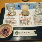 蕎麦処 まち庵 - 一品3種飲みくらべ!一品というお酒の原酒からの醸造工程!全部クセがなく飲み易い!