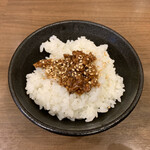 中華そば ふうみどう - 肉味噌ご飯(110円)2020.2