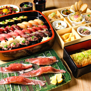 肉寿司で宴会!