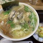 125458608 - かきラーメン(白味噌・あっさり・太麺)