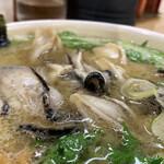 125458650 - かきラーメン(白味噌・あっさり・太麺)