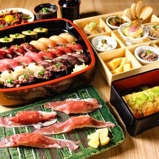 肉寿司を満喫!宴会コース