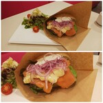 Girouette Cafe - ◆サーモンの自家製サンドウィッチ◆♪