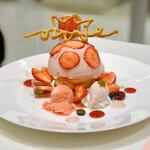 タカノフルーツパーラー - 苺のプレートデザート