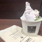 125466279 - ・Trio 506円                       (大学芋、抹茶マーブル、生いちごミルク、アーモンド)