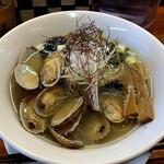 千茶屋 - 浅蜊塩ラーメン 900円