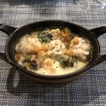 Audace - 真鱈白子と芽キャベツのインパナート