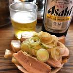 特麺コツ一丁ラーメン - おつまみセット 630円